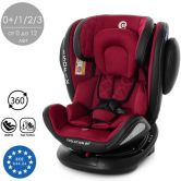 Автокресло ME 1045 Deep Red EVOLUTION 360º, красное