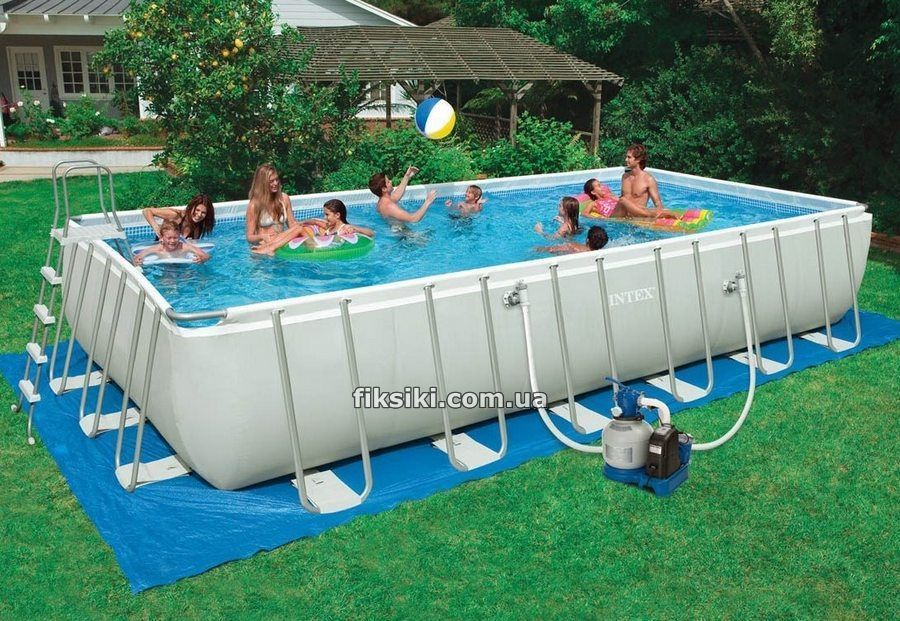 Intex 28364 rectangular ultra frame pool for Bac piscine pas cher
